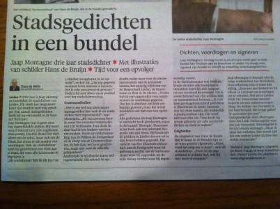 Interview Leidsch Dagblad 30/11/2013